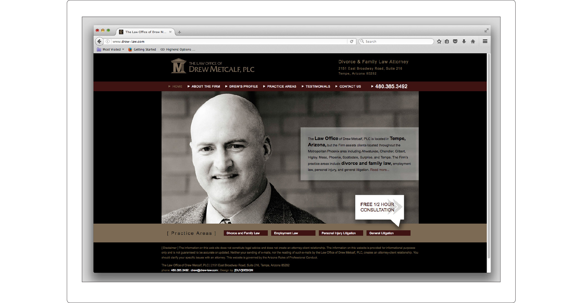 Drew Metcalf web Design
