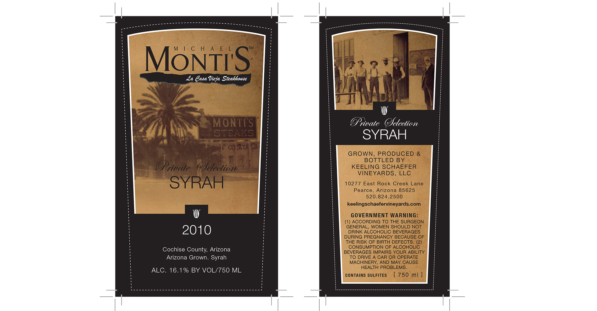 Monti's Wine Label