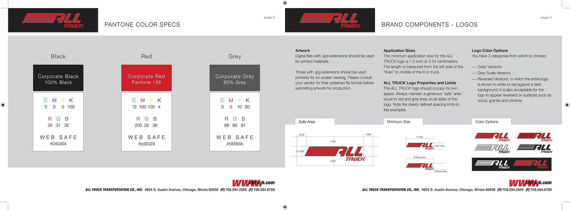 All Truck USA Corporate Identity Standards Manual