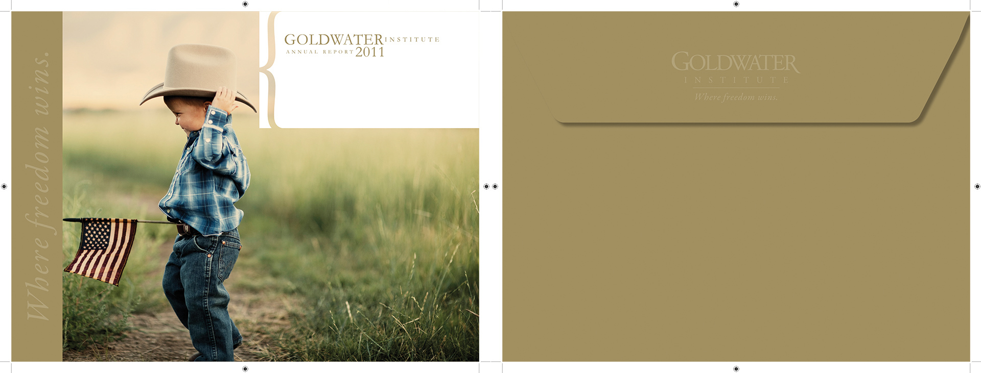 Goldwater Institute Annual Report Custom Envelope Design