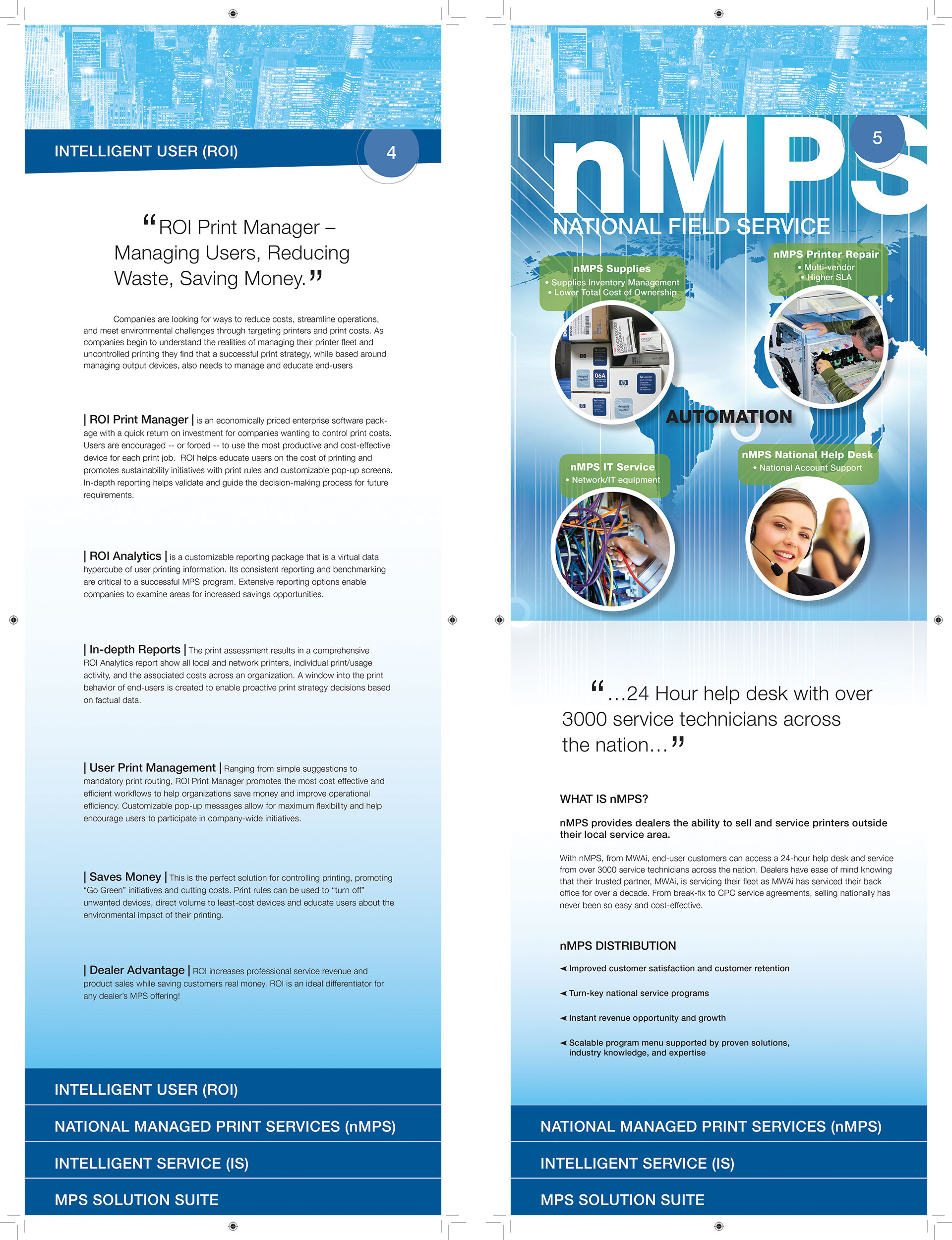 MWAi Custom Tiered Brochure Design