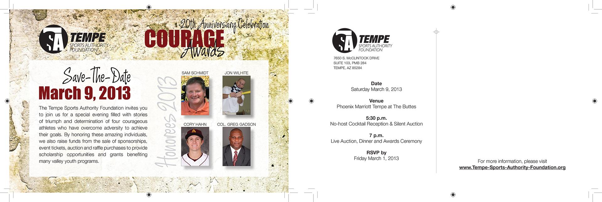 Tempe Sports Authority Foundation Invitation Design