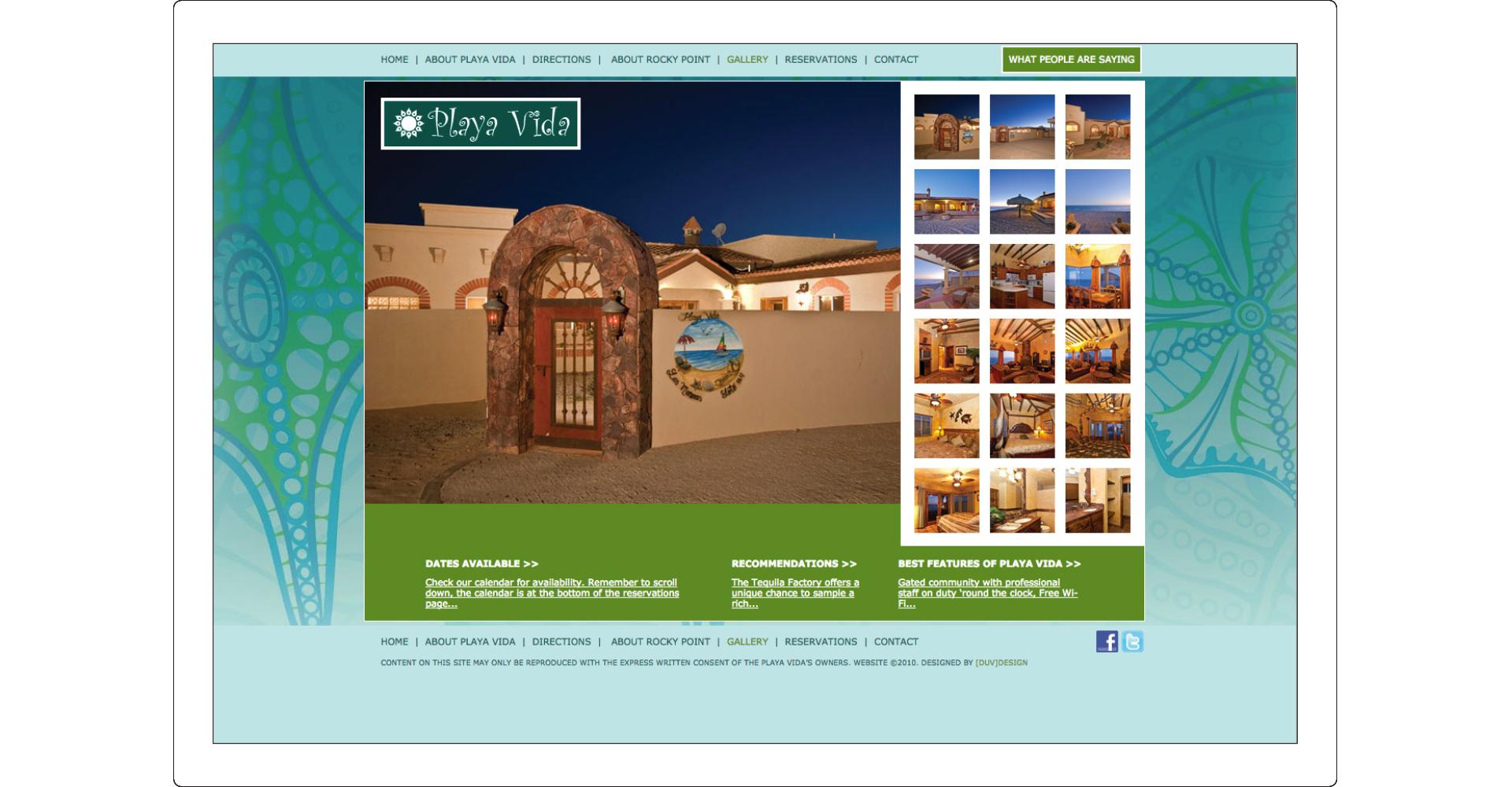 Web Design Playa Vida